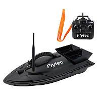 Кораблик для прикормки рыбы Flytec HQ2011 на радиоуправлении, черная кормушка
