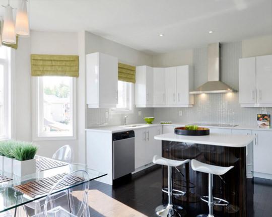 Пошив штор для светлой кухни киев