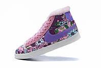 Зимние женские кроссовки Nike Blazer violet