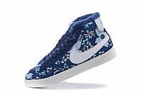 Зимние женские кроссовки Nike Blazer  blue