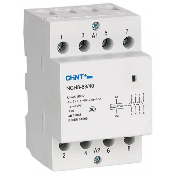 Контактор переменного тока NCH8-40/40 4P 40A, Chint