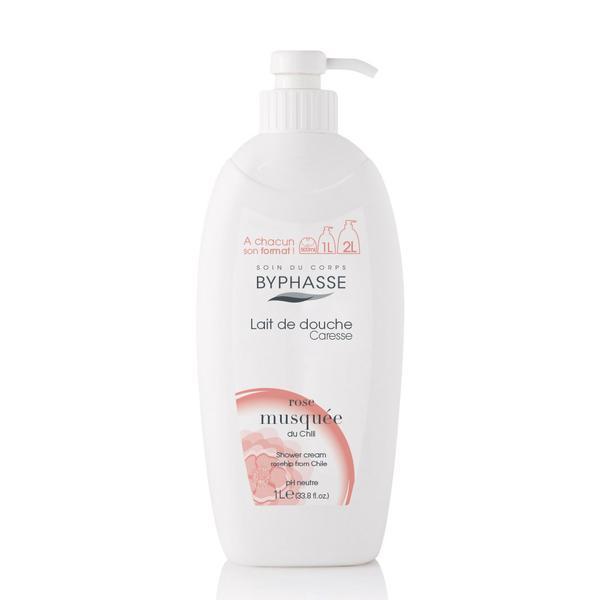 Byphasse Caresse Shower Cream Крем для душа для душа Rosehip 1 литр