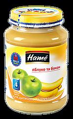 Пюре фруктовое яблоко и банан Hame, 190 г