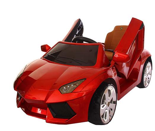 Ел-мобіль T-7645 EVA RED легковий на Bluetooth 2.4G Р/У 2*6V4.5AH мотор 2*20W з MP3 108*68*48/1/