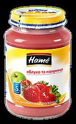 Пюре фруктовое яблоко и клубника Hame, 190 г