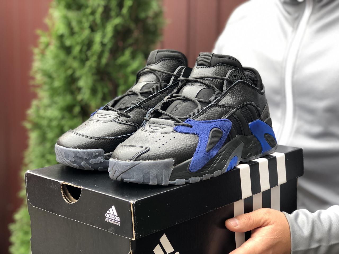 Кросівки чоловічі в стилі Adidas Streetball   чорні із синім