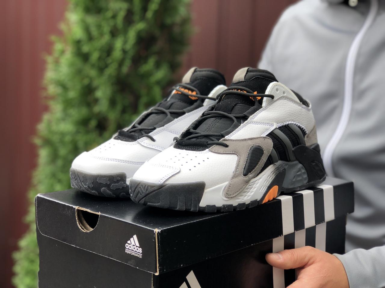 Кросівки чоловічі в стилі Adidas Streetball  білі із сірим