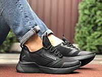 Кросівки чоловічі в стилі Puma  чорні, фото 1