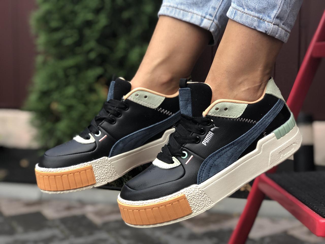 Кросівки жіночі в стилі Puma Cali Sport Mix  чорні
