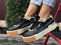 Кросівки жіночі в стилі Puma Cali Sport Mix  чорні, фото 1