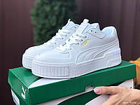 Кросівки жіночі в стилі Puma Cali Sport Mix білі, фото 1