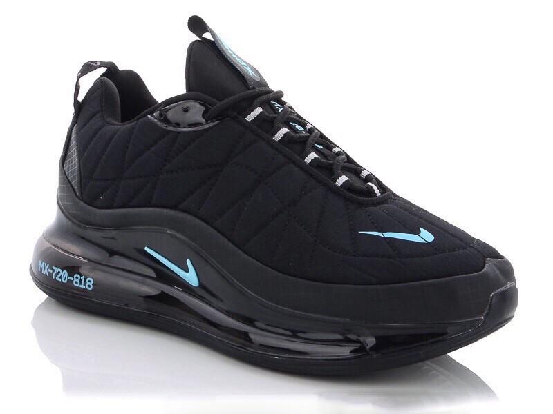 Кросівки чоловічі в стилі  Nike Air Max 720 чорні з мятою термо