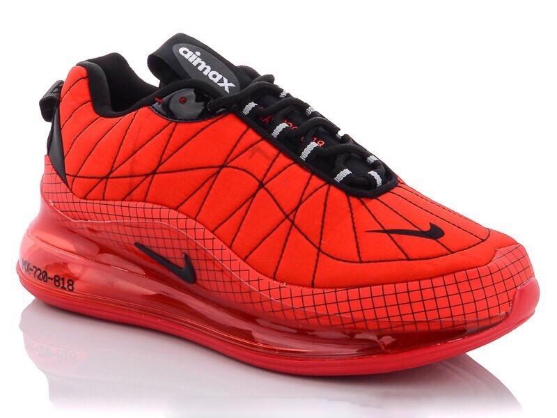 Кросівки чоловічі в стилі  Nike Air Max 720  червоні  термо