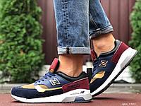 Кросівки чоловічі в стилі New Balance 1500   темно сині з жовтим\бордові, фото 1