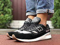 Кросівки чоловічі в стилі New Balance 1500  чорні з сірим\білі, фото 1