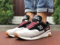 Кросівки чоловічі в стилі New Balance 1500 сірі з чорним\бордові, фото 1