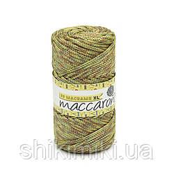 Трикотажный шнур PP Macrame Medium Melange, цвет  Коричнево-салатово-желтый