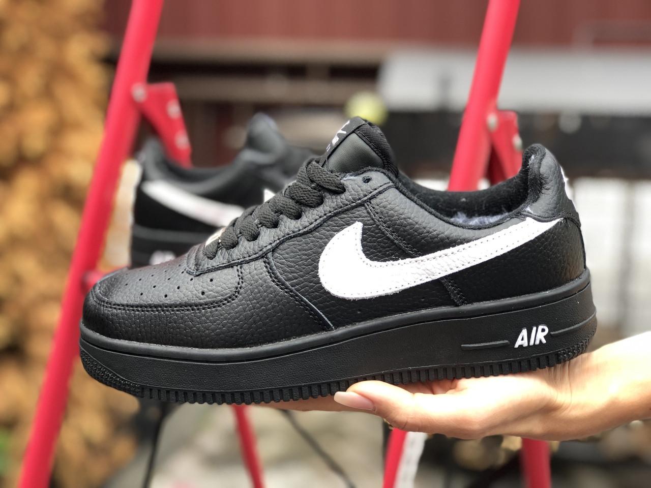 Кросівки жіночі в стилі  Nike Air Force  чорно білі