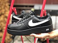 Кросівки жіночі в стилі  Nike Air Force  чорно білі, фото 1
