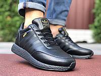Кросівки чоловічі в стилі Adidas Iniki  чорні, фото 1