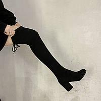 Женские ботфорты черные. Модель 4587, фото 3