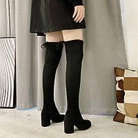 Женские ботфорты черные. Модель 4587, фото 2