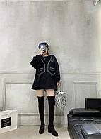 Женские ботфорты черные. Модель 4587, фото 5