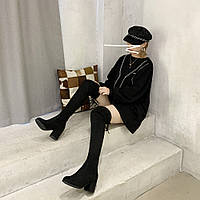 Женские ботфорты черные. Модель 4587, фото 7