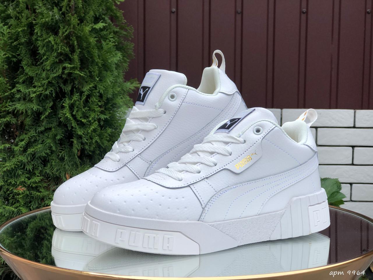 Кросівки жіночі в стилі Puma Cali   білі ( зима )