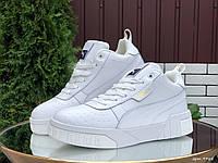 Кросівки жіночі в стилі Puma Cali   білі ( зима ), фото 1
