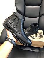 Кросівки чоловічі в стилі Vankristi чорні ( шкіра ) ( зима ), фото 1