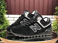 Кросівки жіночі в стилі New Balance 574 чорні ( зима ), фото 1