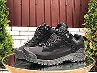 Кросівки чоловічі в стилі Salomon soft shell  чорні ( термо ), фото 1