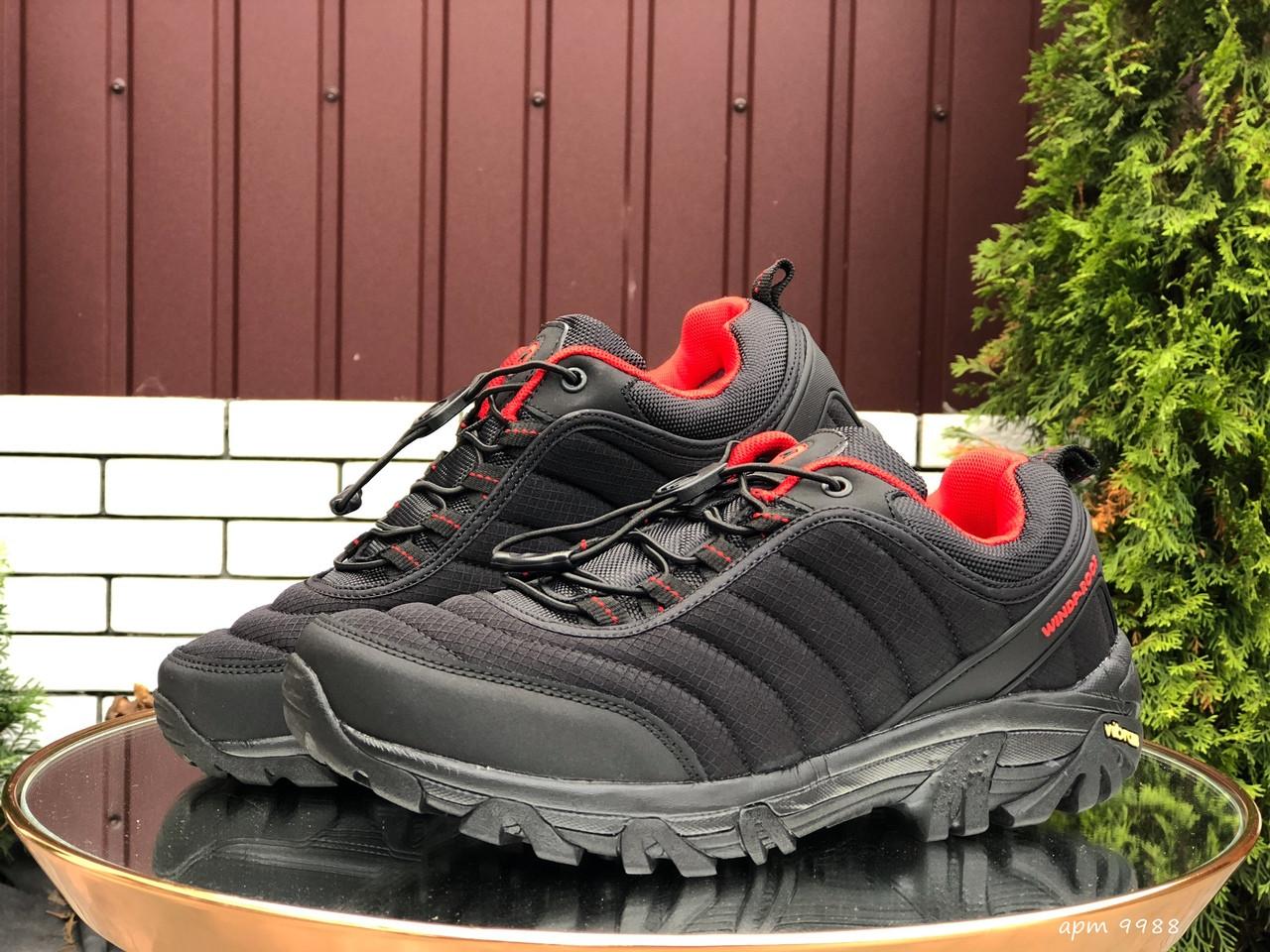 Кросівки чоловічі в стилі Merrell чорні з червоним ( термо )