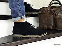 Туфлі чоловічі в стилі Vankristi  чорні зима, фото 1