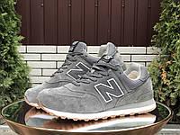 Кросівки чоловічі в стилі New Balance 574  сірі  ( зима ), фото 1