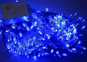 Xmas Нитка 400 LED СИНІЙ (чорний провід,23 метри) + Подарунок