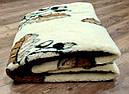 Ковдра двошарове з овчини двоспальне Євро 200х220, фото 5