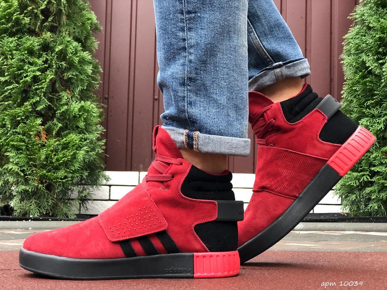 Кросівки чоловічі в стилі Adidas Tubular червоні ( зима )