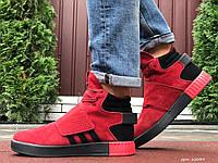 Кросівки чоловічі в стилі Adidas Tubular червоні ( зима ), фото 1