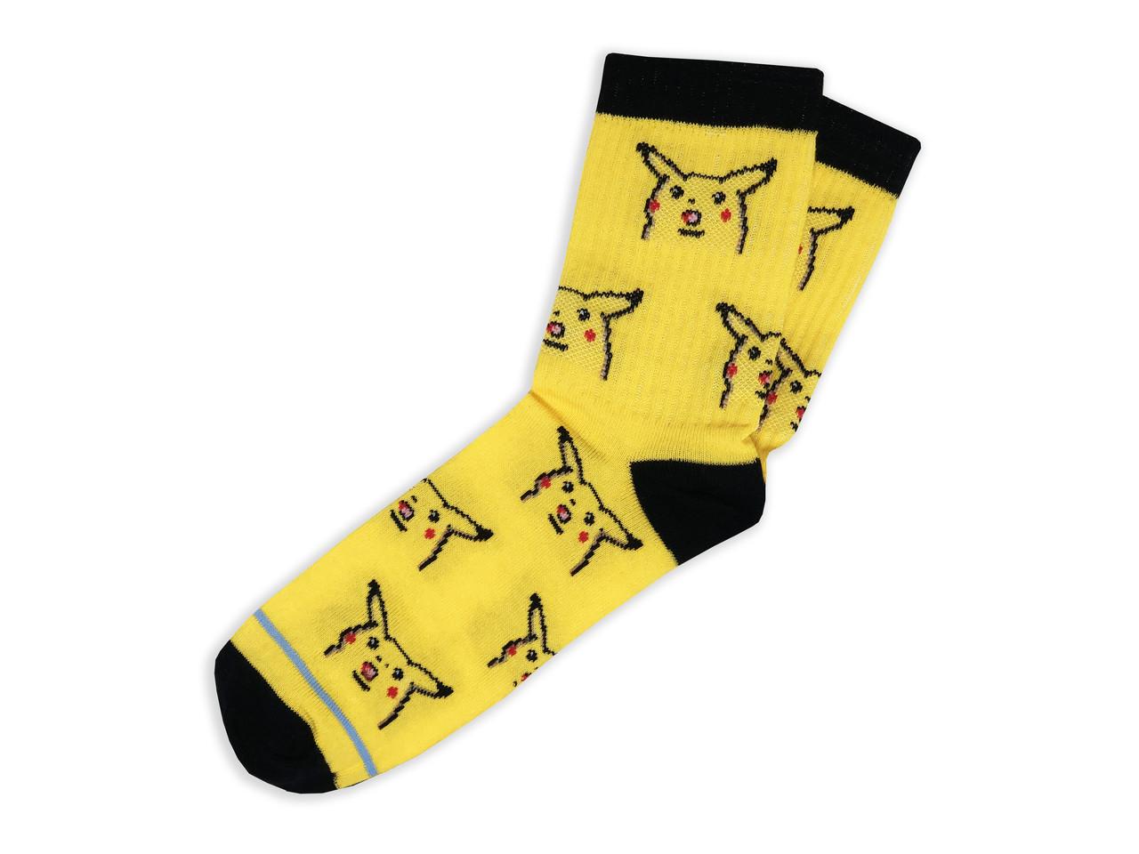 Мужские носки LOMM Premium Пикачу жёлтые