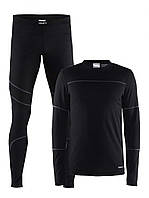 Термобелье для мужчин Craft Baselayer Set M-M 1905332 BLACK/GRANITE (ZE35iz12387)