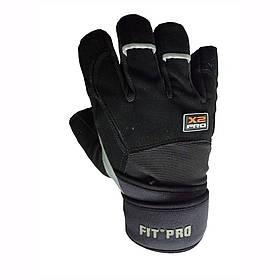 Перчатки для тяжелой атлетики Power System X2 Pro FP-02 Black XL