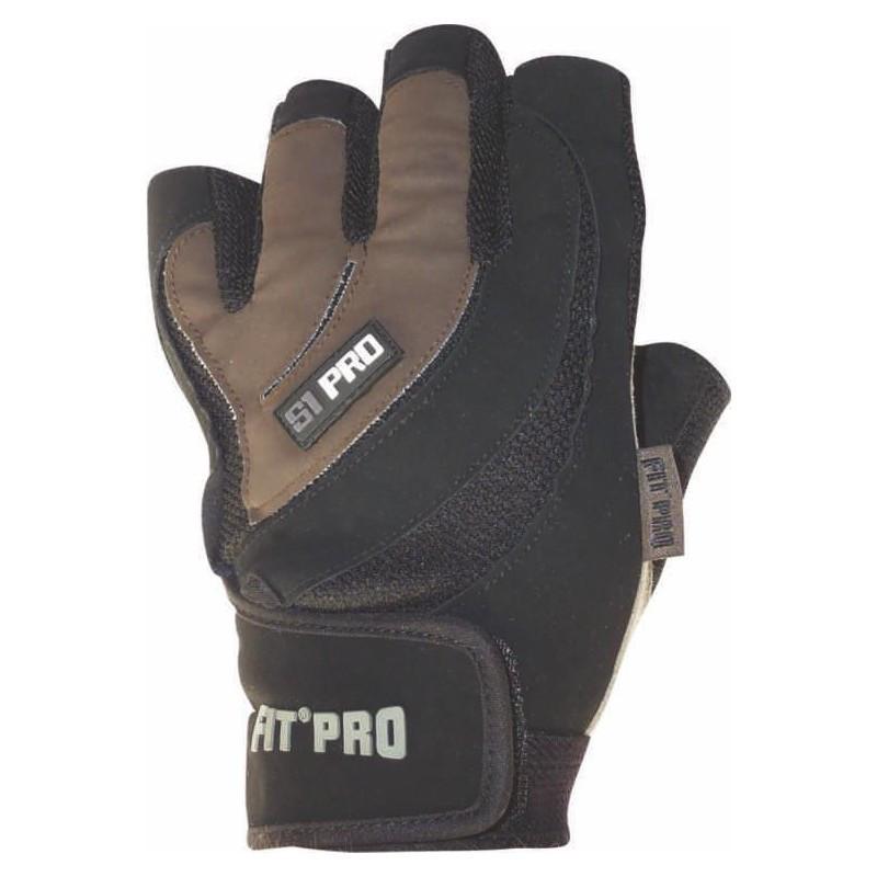 Рукавички для важкої атлетики Power System S1 Pro FP-03 Black/Brown XL