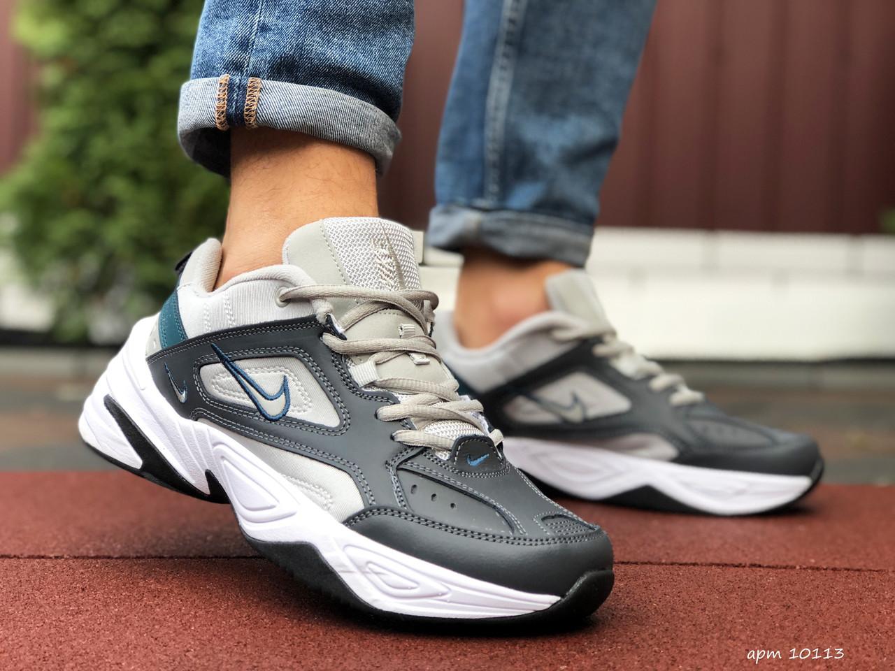 Кросівки чоловічі в стилі Nike M2K Tekno темно сірі з бежевим