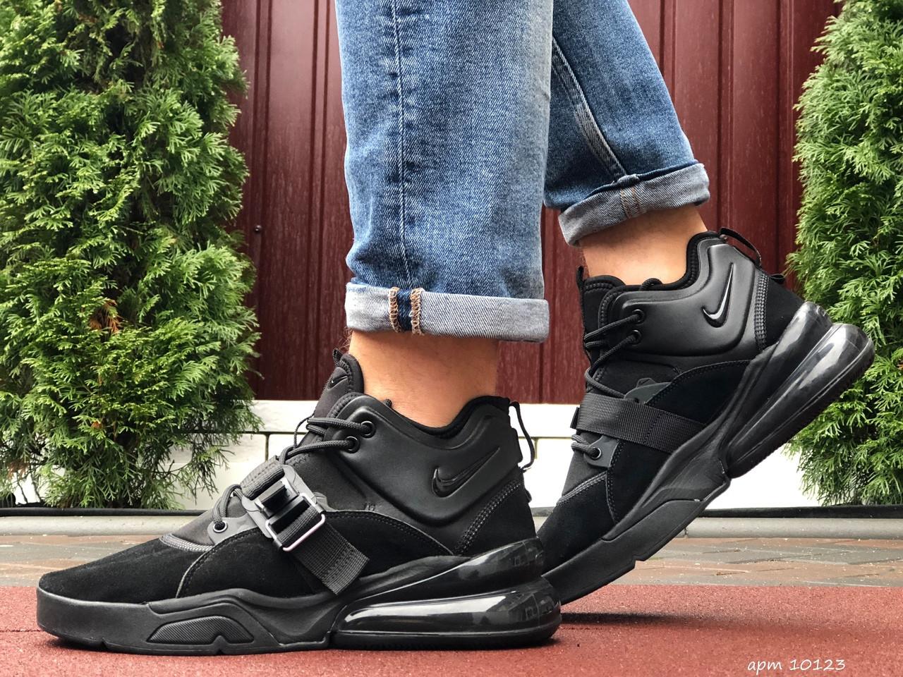 Кросівки чоловічі в стилі Nike Air Force 270  чорні ( замш )