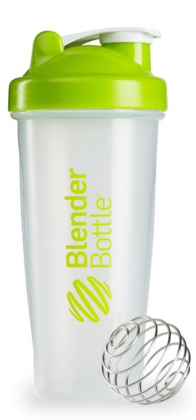 Шейкер спортивный BlenderBottle Classic 28oz/820ml прозрачный/зеленый (ORIGINAL)