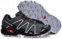 Кросівки чоловічі в стилі Salomon Speedcross 3   сірі, фото 1