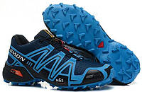 Кросівки чоловічі в стилі Salomon Speedcross 3  сині, фото 1