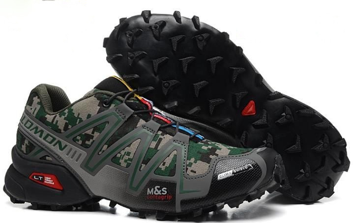 Кросівки чоловічі в стилі Salomon Speedcross 3  мілітарі